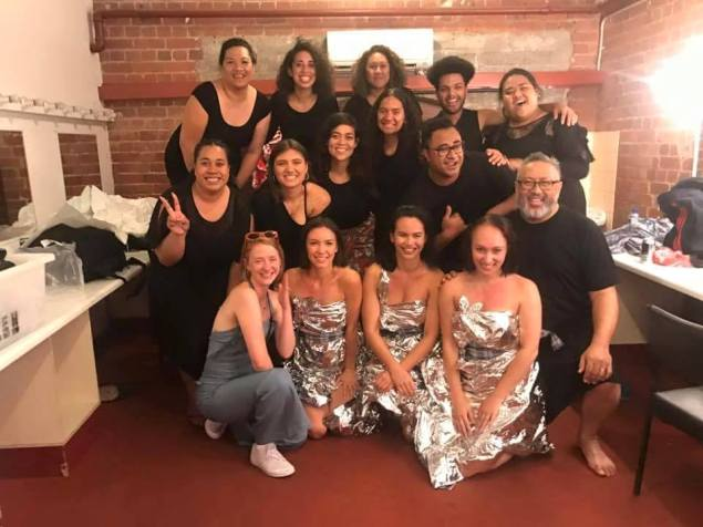 Group pic after a successful performance of the Amrita Hepi/Pasefika Vitoria Choir collaboration at Sugar Mountain Festival, Melbourne 2018.